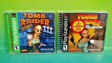 Tomb Raider III Lara Croft + Last Revelation Playstation 1 2 PS1 PS2 Rare Games