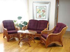Jam Living Set 2 Chairs Loveseat Coffee Table Dark Brown Cushions Colonial