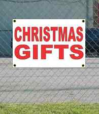 2x3 CHRISTMAS GIFTS Red & White Banner Sign NEW Discount Size & Price FREE SHIP