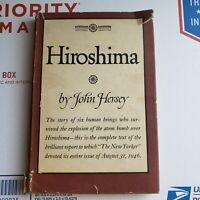 Hiroshima John Hersey 1946 1st ed HC DJ Book WWII War Japan Atom Bomb History