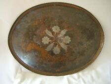 PAUL GILLING ORIGINAL ARTS AND CRAFTS COPPER & WHITE METAL TRAY HAS MAKERS MARK
