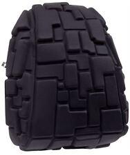 Madpax 3D Blok Backpack Black Out Design Half Pack Size Black
