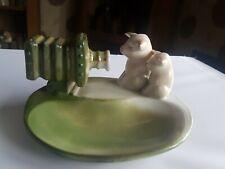 "MINT Vintage Antique German Porcelain Fairing  ""2 PIGS LOOKING INTO A CAMERA"""