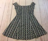 Vintage Electric Beach by Jantzen Blue Green Plaid Daisy Dress Size Large