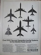 4/1973 PUB SINGER KEARFOTT INERTIAL SYSTEMS GYROSCOPE SENSOR F-105 JA-37 DC-8 AD