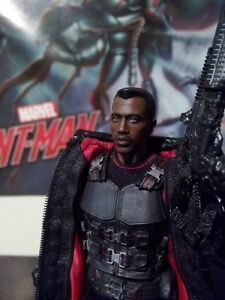 Wesley Snipes - Marvel's Blade painted custom head sculpt for MEZCO 1/12