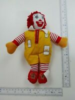 "1996 mcdonald's mascot ronald mcdonald clown plush bean bag 9"" tall Free Ship"