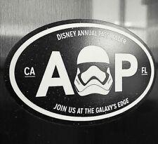 "Disney Annual Passholder Magnet Star Wars Galaxy's Edge Black Oval 5"" x 3"""