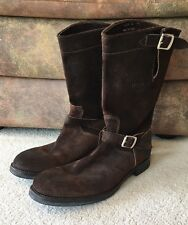 Triumph Motorcycle Boots Paul Smith Brown Leather Worlds Fastest 44/10