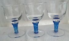 Goblets. Cobalt and Clear. Caithness ?