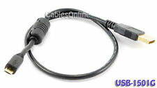 1.5 ft. USB 2.0 A Male to Micro-B Male Cable w/ Ferrite