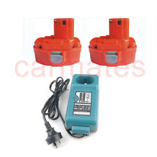 2 Battery For Makita 18V Drill 3.0Ah Ni-MH Heavyduty 1835F 8390D 8444D+charger