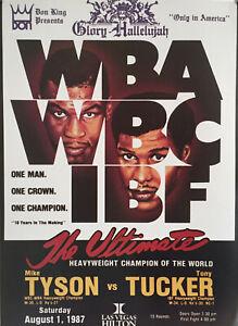 REPLICA Mike Tyson vs. Tony Tucker Boxing Fight Reproduction Poster