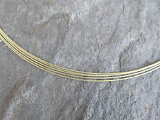 "14 KT Yellow Gold 5-Strand Cable Wire Collar Necklace Mesh Cable Wires 18"" NEW"