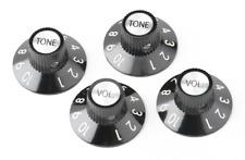 Set of 4 Genuine Knobs in Black for Fender '72 Telecaster Custom, MPN 0054521049
