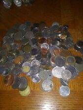 Nice Mixed Bulk Lot of 100 Assorted World/Foreign Coins! + FREE silver coin
