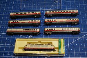 N Minitrix 2057 E Lok BR 102 133 - 5 TEE + 6 tlg. Wagenset - Gebraucht !