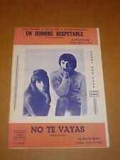 "Sonny & Cher ""Baby Don't Go/A Well Respected Man"" Spanish sheet music"