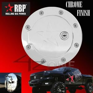 RBP  Chrome GAS FUEL DOOR W/ LOCK 2004-2008 FORD F150 XLT XL FX4 CREW CAB NEW