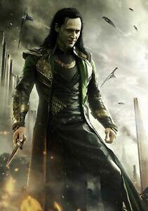 Loki Avengers Movie Film Poster Art Print Decor Home