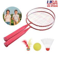2 Player Badminton Racket Set Shuttlecock Sports Kids Fun Outdoor Garden Game