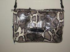259feed49f Simply Vera Wang Faux Snakeskin Nat Anacon Crossbody Handbag Purse  as31