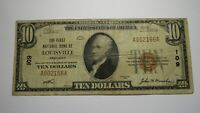 $10 1929 Louisville Kentucky KY National Currency Bank Note Bill Ch. #109 FINE!