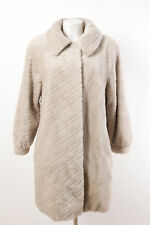 KARL LORENZ Mantel Gr. XL / 42 Alpaka-Mohair-Mix Flauschiger Wintermantel Coat