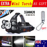 35000 LM 5X CREE XM-L T6 LED Rechargeable Headlamp Headlight Travel Head Torch M
