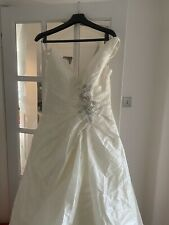 Ivory Taffeta Wedding Dress Size 14 from Benjamin Roberts