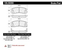 Posi-Quiet Extended Wear Disc Brake Pad w/Shims & Hardware fits 1997-2005 Pontia