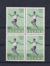 Iceland 1964 Olympics Issue Blocks of 4  MNH Classics,Scarce