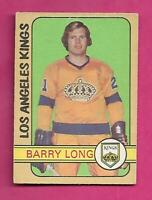 1972-73 OPC # 288 KINGS BARRY LONG  HIGH # ROOKIE VG+ CARD (INV# C5315)