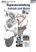 Reparaturanleitung RIS Znen Retro Roller 50, Antrieb und Motor
