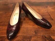 Salvatore Ferragamo Brown Heels W/ Textured Detail, Size 8.5