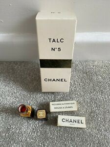 Vintage Chanel Cosmetics Lipstick Talc Collectables