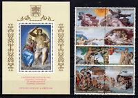 Vatikan Vaticano 1994 postfrisch Block Nr. 14 und Satz 1107-1114 ** Michelangelo