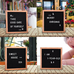 Premium Changeable Retro Felt Letter Message Board 340pcs Letters Characters 10""
