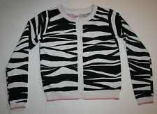 New Gymboree Zebra Print Button Front Cardigan Sweater Size 4 Year Animal Party