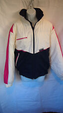 Sport Sunice Ski Jacket Size Womens Vintage White & Blue & Pink USA Winter Puff