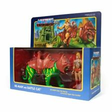 He-Man Battle Cat Masters Of The Universe MotU 3 3/4 Inch ReAction Figur Super7