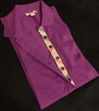 B New BURBERRY Nova Check T Shirt Short Sleeve Cotton Burberry Polo XS T Shirt