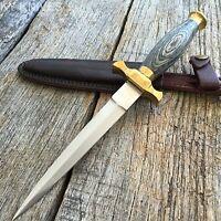 "10.5"" EBONY Wood Medieval Renaissance Fantasy Dagger hunting knife"