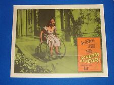 Original 1961 Scream of Fear Lobby Card