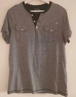 Men's River Island Grey T Shirt Medium <EE1167