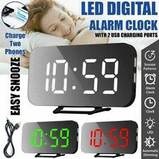 LED Display Wecker USB Digital Uhr Alarm Wecker Tischuhr Snooze Digital Wecker