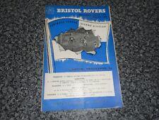 BRISTOL ROVERS  v  SHEFFIELD UNITED   1957/8  ~ JANUARY 11th   VINTAGE