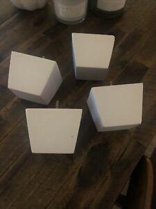 White 3 Inch Wooden Pyramid Furniture Legs Sofa, Love Seat, Ottoman