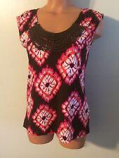 •• Jones New York Women's Size PS Petite Small Blouse SS Cotton Shirt Nice!
