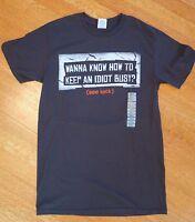 Funny GAG T-Shirt Prank Make Idiot Look Men's Tee adult sz Small *NEW* teen